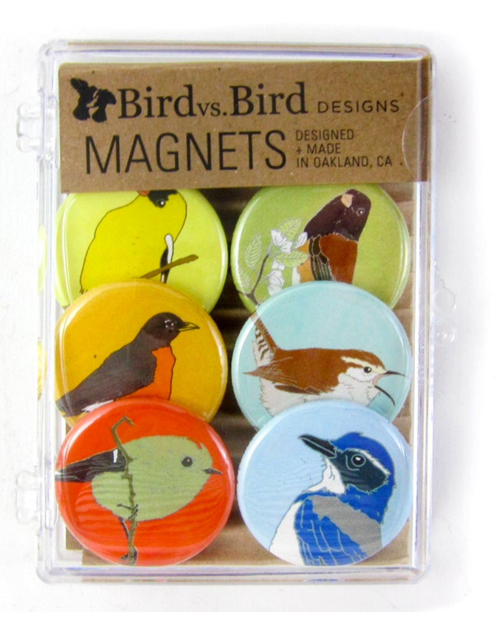 Bird vs Bird Birds - Western Backyard - Magnet Set