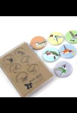 Bird vs Bird Birds - Hummingbirds - Magnet Set