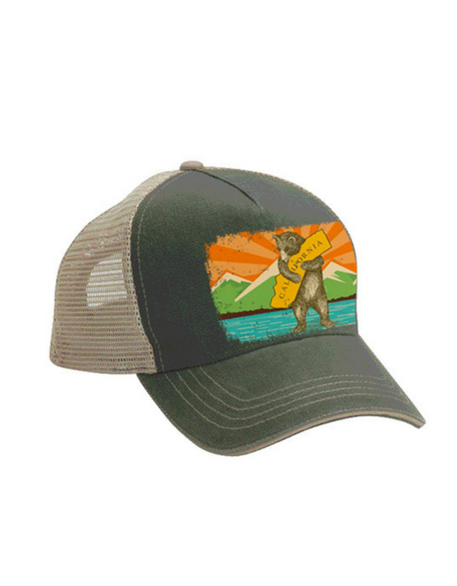 SF Mercantile California Mountain Bear Trucker Hat