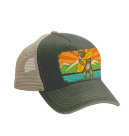 SF Mercantile California Mountain Bear Trucker Hat