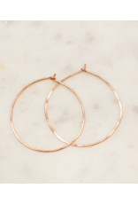 Classic Hoop earring - Medium Round - Sterling or Gold Fill