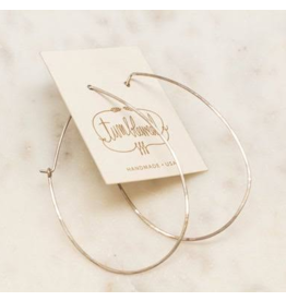Classic Hoop earring - Medium Drop - Sterling or Gold Fill