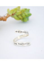 Chocolate & Steel CAS Quote Ring - SS