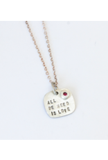 Chocolate & Steel CAS Love Necklace - SS