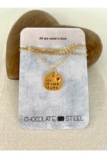 Chocolate & Steel CAS Love Necklace - G