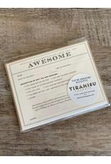 Tiramisu Certificate-Awesome