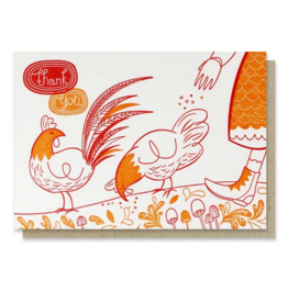 Paper Parasol Press TU-Thank You Chickens Card