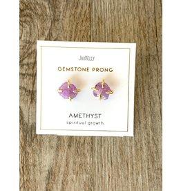 JaxKelly Amethyst Gemstone Prong