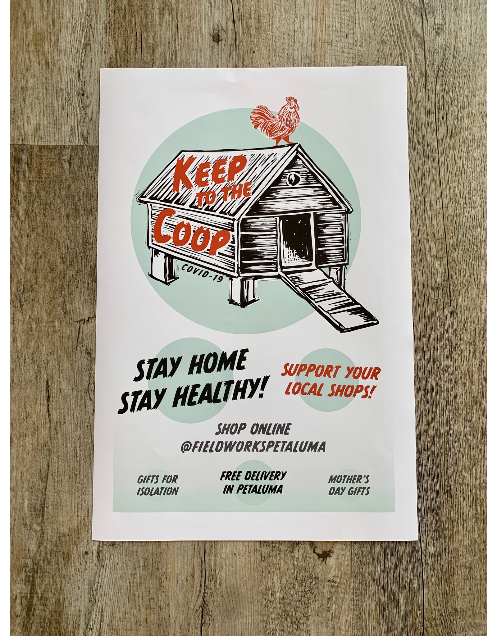 Blockhead Press Keep to the Coop Poster