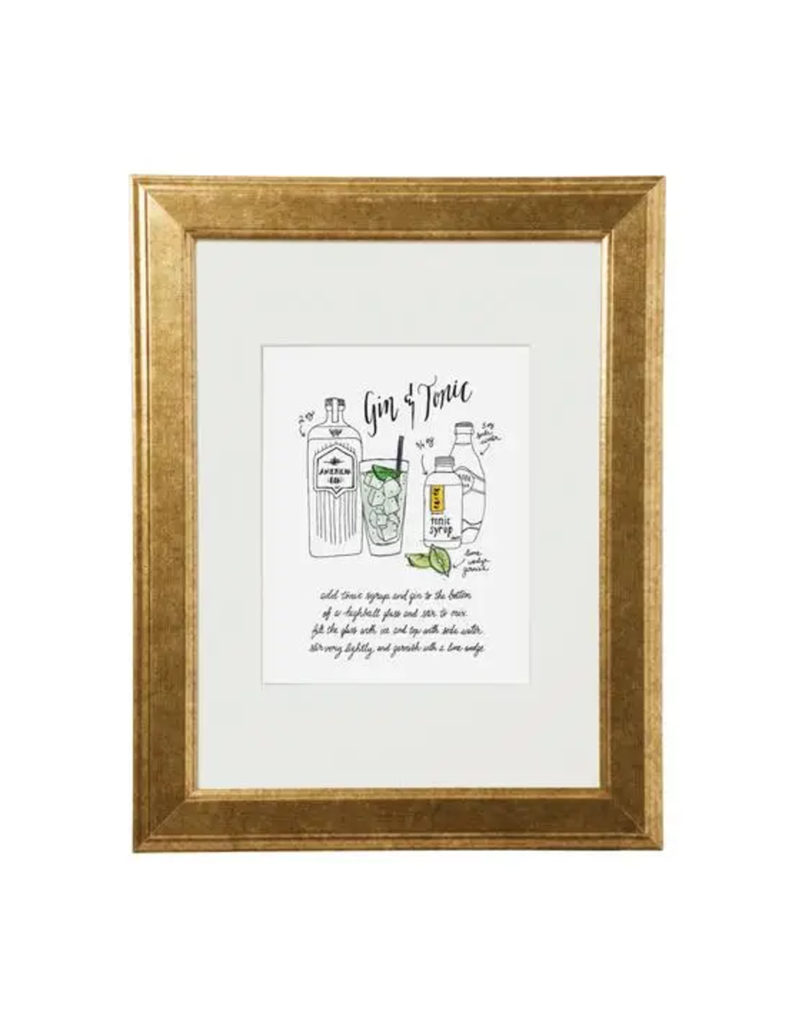 Classic Cocktail Prints - Gin & Tonic