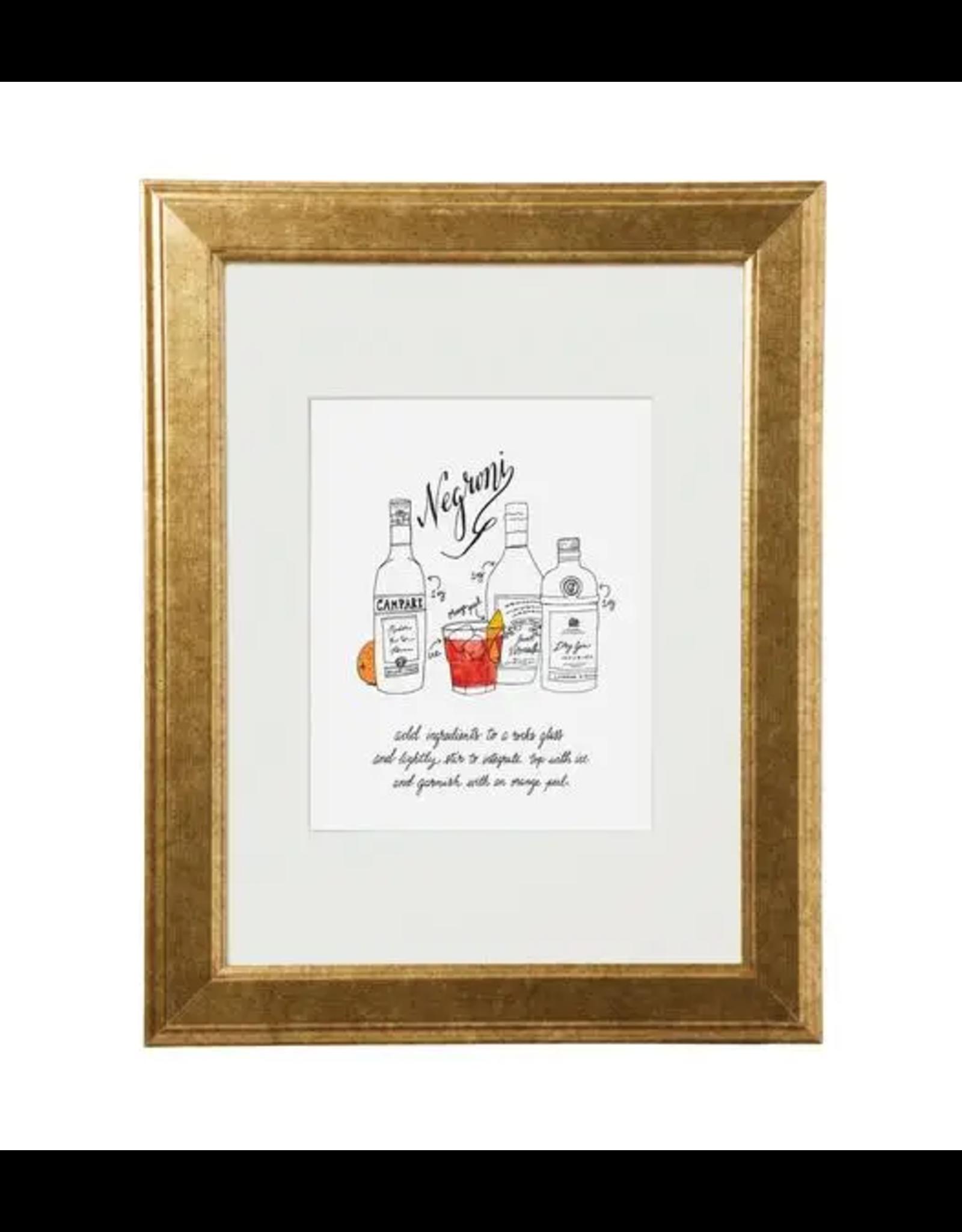 Classic Cocktail Prints - Negroni