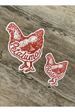 Blockhead Press Petaluma Chicken - Die Cut Vinyl Magnet