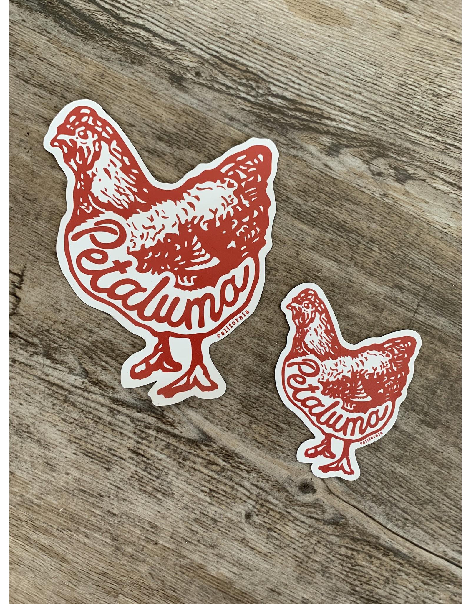 Blockhead Press Petaluma Chicken - Die Cut Vinyl Magnet