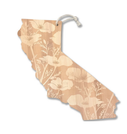 CA Poppy Cutting Board