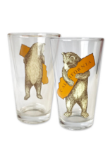 SF Mercantile CA Bear Hug Pint Glass
