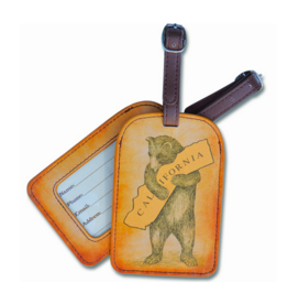 SF Mercantile California Bear Luggage Tag