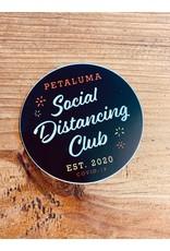 Social Distancing Club Sticker