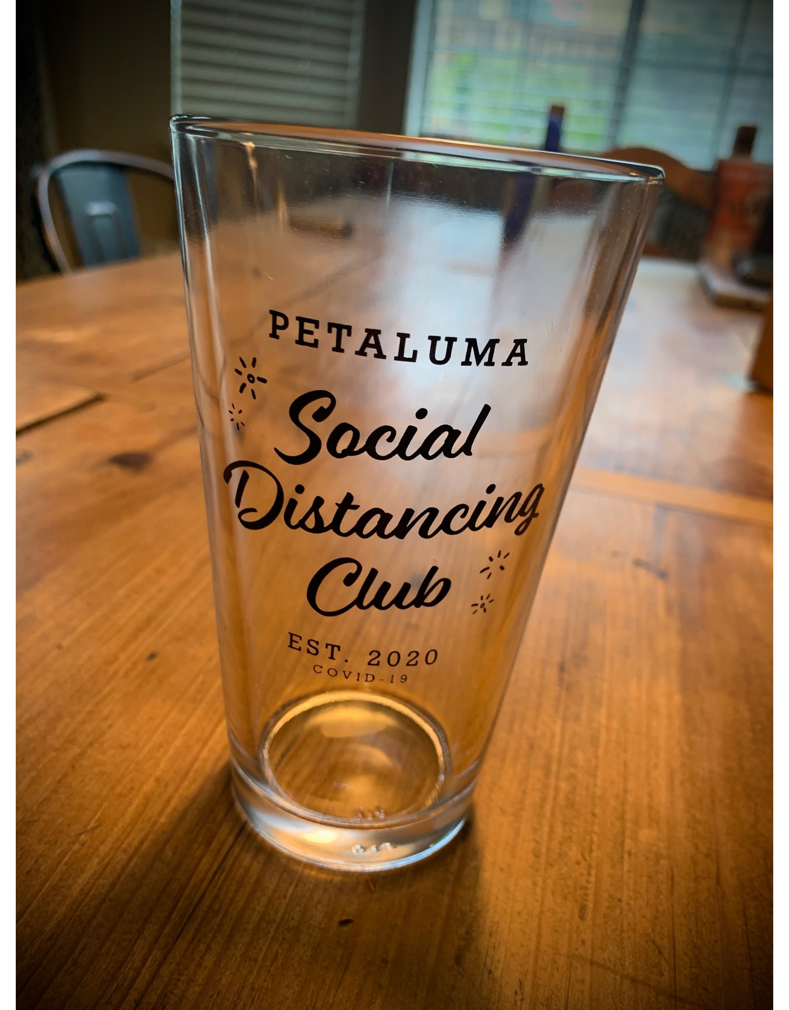 Social Distancing Pint Glass