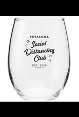 Social Distancing Wine Glass (17 oz)