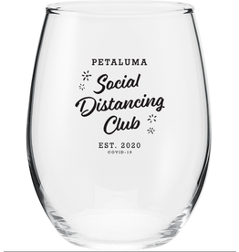 Social Distancing Wine Glass (17 oz)