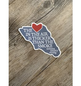 Blockhead Press Sonoma Strong - Love in the Air Decal