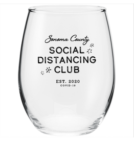 SOCO Social Distancing Wine Glass (17 oz)