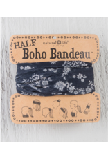 Half Bandeau - Black Blooms