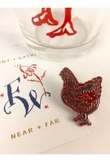 Blockhead Press Petaluma Chicken - Enamel Pin