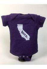 Home State Apparel CA BORN Onesie - Purple