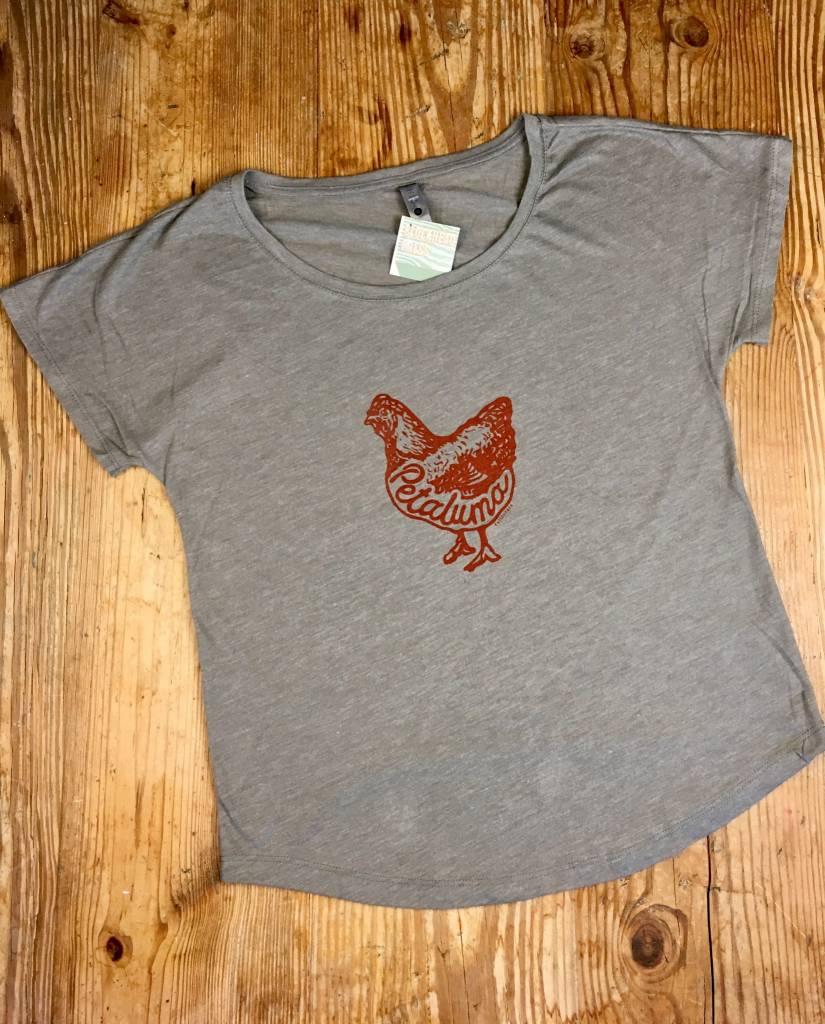 Blockhead Press Petaluma Chicken Women's Dolman Scoop Neck