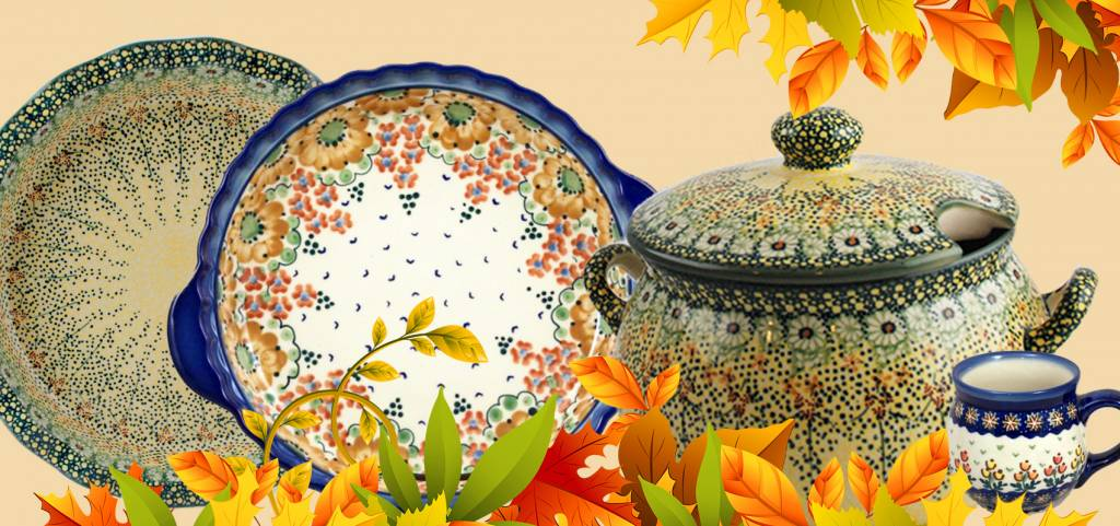 Three Cheers for Fall Polish Pottery Boleslawiec Patterns