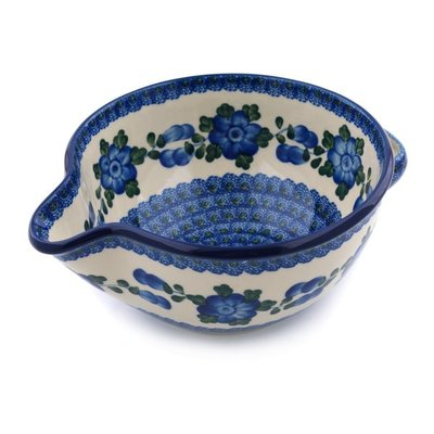 CA Blue Poppy Batter Bowl