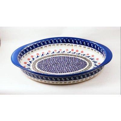 Blue Bird Oval Baker - Lrg