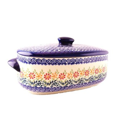 Marigolds Covered Casserole - Medium