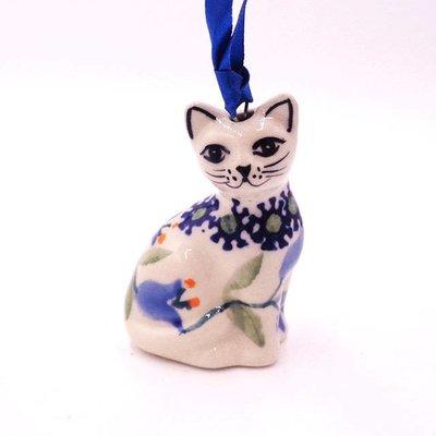 Bell Flower Cat Ornament