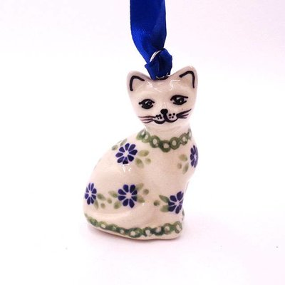 Forget Me Nots Cat Ornament