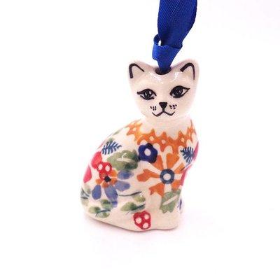 Posies Cat Ornament