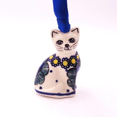 Pansies Cat Ornament