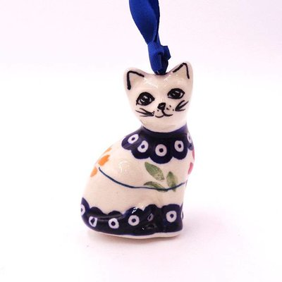 Pinwheels Cat Ornament