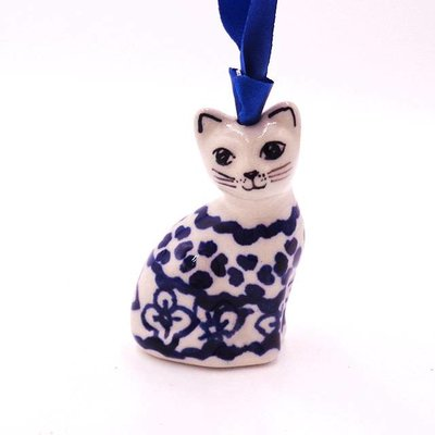 Diamond Lattice Cat Ornament