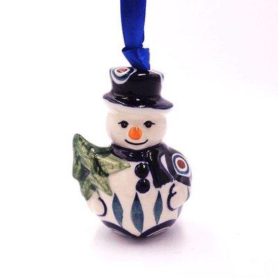 Peacock Snowman Ornament