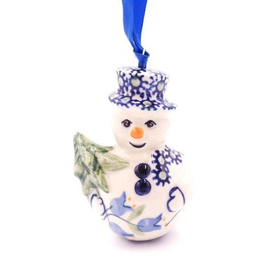 Bell Flower Snowman Ornament