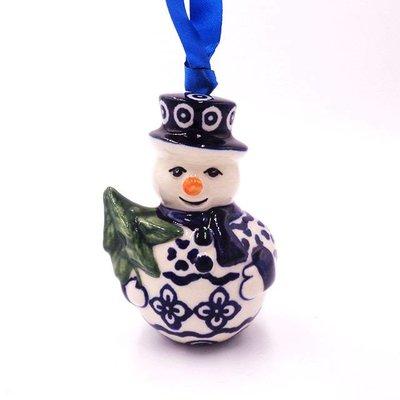 Diamond Lattice Snowman Ornament