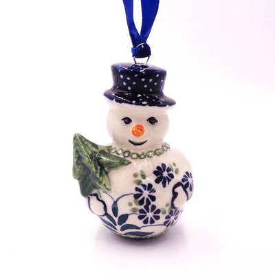 Forget Me Nots Snowman Ornament