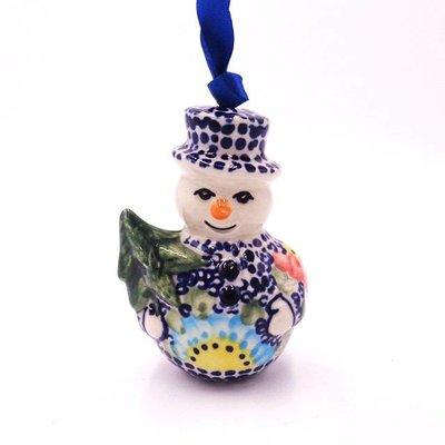 Gypsy Jazz Snowman Ornament