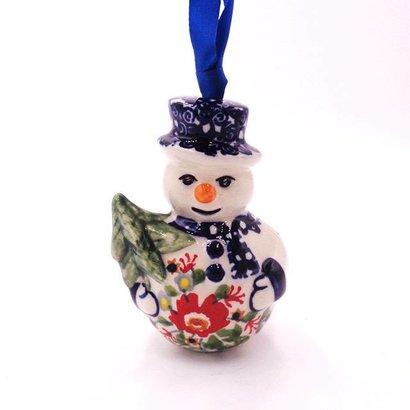 Lidia Snowman Ornament