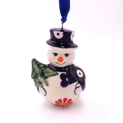 Pinwheels Snowman Ornament