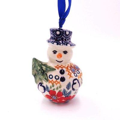 Posies Snowman Ornament