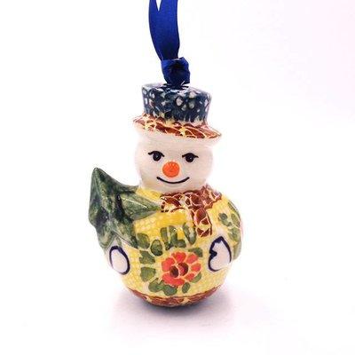 Rose Marie Snowman Ornament