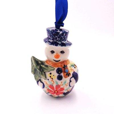 Viktoria Snowman Ornament